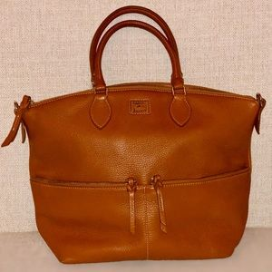 Dooney and Bourke Class Brown Leather Tote